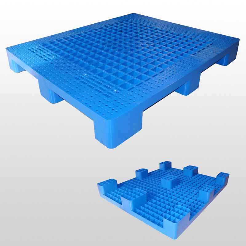L1200*W1000*H140mm plastic pallet with 9 Feet,open deck