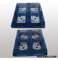 Stack-able Plastic Pallet with 6 Runners Bottom And Open Deck