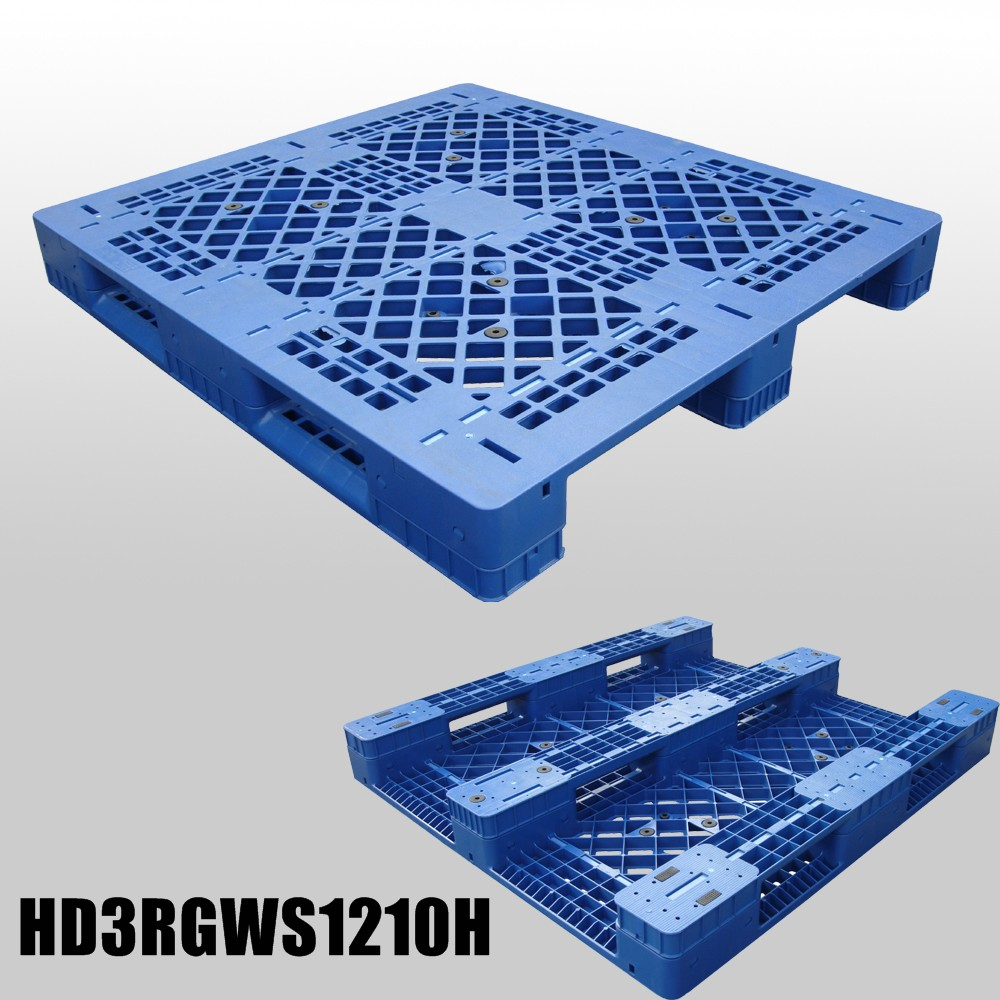 1200*1000*160 mm Plastic Pallet combined type with 3 runners and open decks
