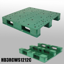 Nestable Plastic Pallets 3Runners Closed Deck Plastic Pallet