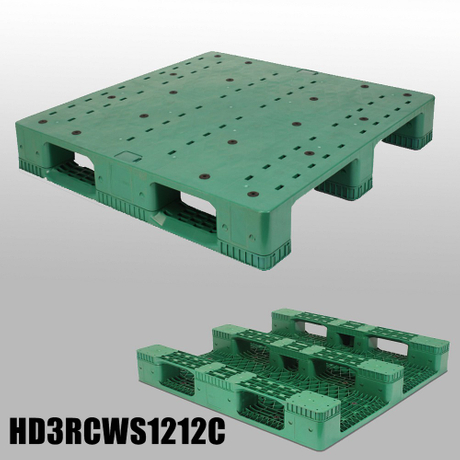 1200*1200 Three Runners Closed Deck Nestable Plastic Pallets