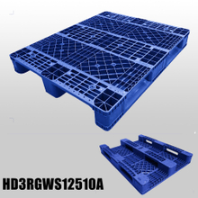 1250*1000*150 mm Industry plastic pallet with 3 runners and open deck