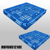 1200*1000 Full Perimeter Open Deck Blue Stackable Plastic Pallets