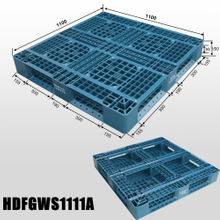 1100*1100 Ventilated Good Quality Storage Industrial Plastic Pallet