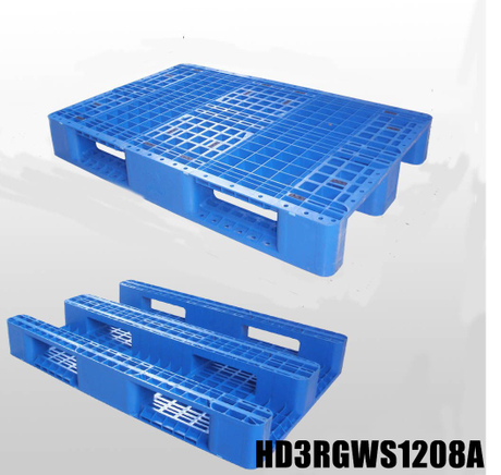 1200*800*150 mm 3 Runners open deck plastic pallet
