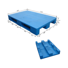 1100*1100 Three Runners Close Deck Stacking Storage Blue Plastic Pallet