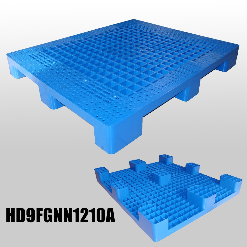 Grid Plastic Pallets with 9 Feet & Grid Deck