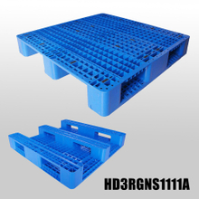 1100*1100 Three Runners Open Deck Storage Blue Plastic Pallet