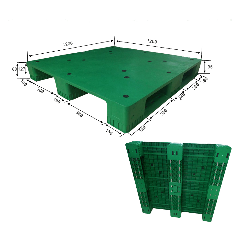 Plastic Pallet Industry with 3 Runners