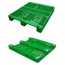 1300*1200 Three Runners Open Deck Green Rackable Plastic Pallets