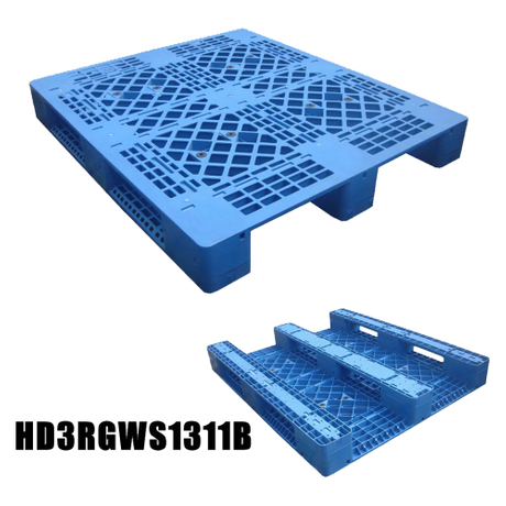 1300*1300 Three Runners Single Faced Open Deck Plastic Pallet
