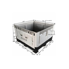 1200*1000*810 Close Storage Heavy Duty Plastic Pallet Containers