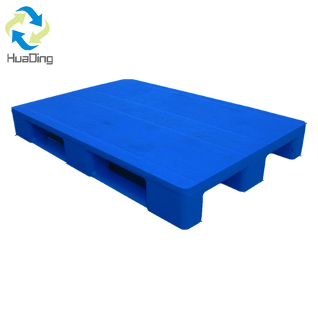 1200*1000 Three Runner Closed Deck Bule Packaging Plastic Pallet