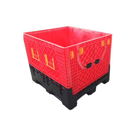 Plastic Folding Bulk Shipping Container Heavy Duty Hdpe Plastic Pallet Box