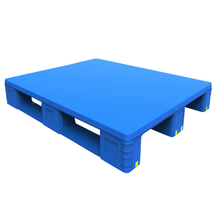 1200*1000 Three Runners Single Face Rackable Stackable Plastic Pallet