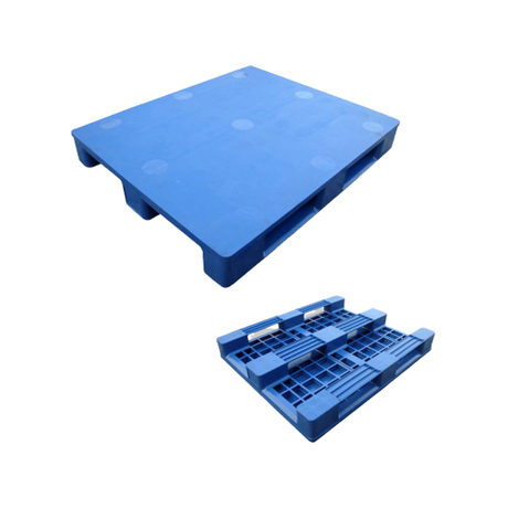 1200*800 Close Deck Steel Reinforced Industrial Plastic Pallet