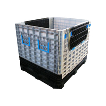 Pallet Box with Lid Large Foldable Collapsible Plastic Pallet Box