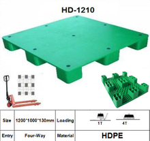 Plastic Pallet with 9 Legged Support, Smooth Surface.