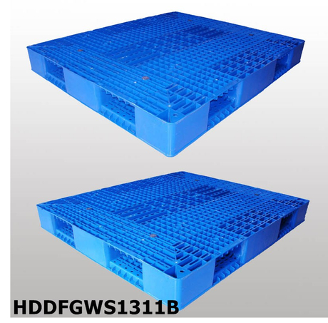 1300*1100 Double-faced Open Deck Stackable Heavy Duty Blue Plastic Pallet